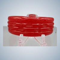 Vintage Carved Bakelite Bangle