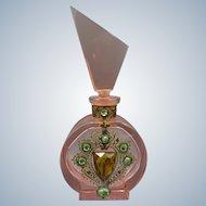 Vintage Czech. Jeweled Perfume Bottle