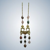 Castlecliff Mayan Style Necklace with Polished Stones - Lawrence Vrba