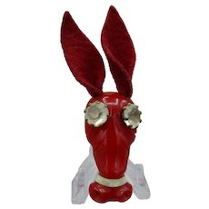 Vintage Bakelite Donkey Head Pin