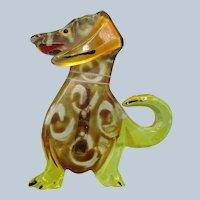 Figural Lucite Dimensional Dog Pin