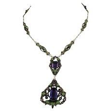 Gorgeous Vintage Czech. Necklace