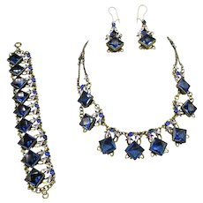 Stunning Czech. Necklace, Bracelet and Earrings