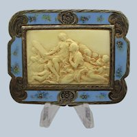 Italian 800 Silver Figural Vanity Compact