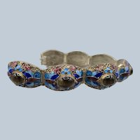 Chinese Silver Bracelet with Cabochons