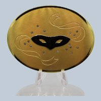 Vintage Dorothy Gray Harlequin Mask Powder Compact