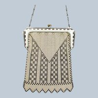 Vintage Whiting and Davis Deco Style Mesh Purse