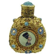 Czech. Figural Egyptian Revival Perfume Bottle