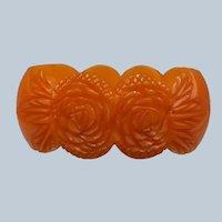 Vintage Carved Bakelite Bangle