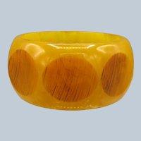Vintage Marbled Bakelite Bangle