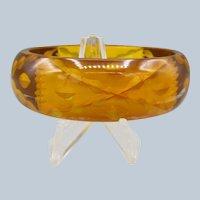 Vintage Reverse Carved and Pained Bakelite Bracelet