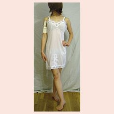Vintage 1960 Collins & Aikam White & Blue Full Slip NEW NWT NOS Size 34
