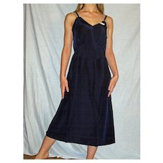 1940 Vintage Seamprufe Navy Blue Full Slip Acetron Rayon size 38 NEW NWT