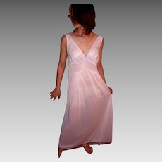 Vintage 1950 s Seamprufe Long Sheer Pink Nightgown NEW NWT NOS Size 34 d4113ac72