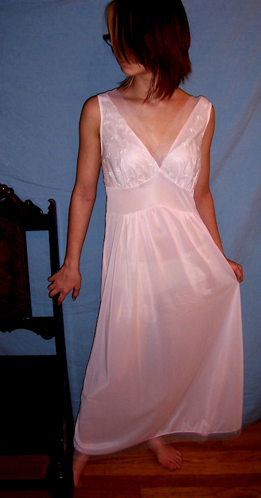 35a03aee9 Vintage 1950 s Seamprufe Long Sheer Pink Nightgown NEW NWT NOS Size 34    Miss Jewel s Vintage Lingerie