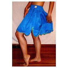 Vintage 1960 Youth Form Blue Taffeta Half Slip Size Small NEW NWT NOS