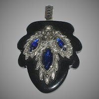 Vintage Jeweled One-Half Dress/Cape Buckle or Necklace Pendant