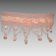 1930's-40's Rosy Pink Chenille & Corded Tasseled Italian Trim-7 Yards