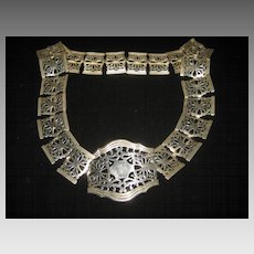 Antique EPNS Silver Plated Pierced Nurses Belt-27 3/4""