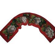 """Antique Beaded Needlepoint Roses Panel Runner  52"""" Long"""