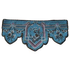 Antique All Beaded Pelmet Valance in Turquoise, Pink, White