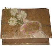 Antique French Chocolate Box with Flowers
