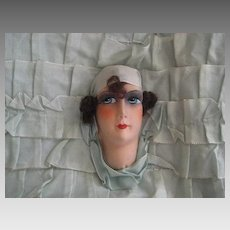 C. 20's French Boudoir Doll Face Ribbon Pillow
