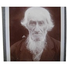 Victorian Cabinet Card of Stylish Old White Haired Gentleman