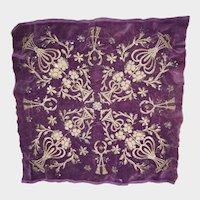 Antique Turkish Ottoman Metallic Beaded Sequined Pillow Top