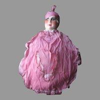 1920's French Boudoir Doll Face Lingerie Bag-Mint in Box-New Old Stock