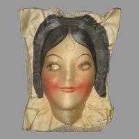 1920's Wm. Gluckin Molded Cloth Doll Face