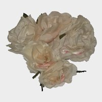 Vintage Roses Millinery Flowers Corsage-Five Large Roses