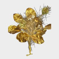 C. 1900's  French Gold Foil Christmas Ornament