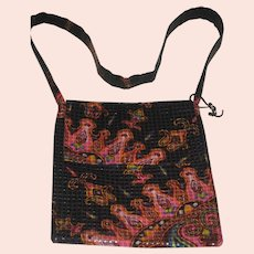 1990's Amy Chan Black & Pink Mosaic Tile Purse