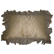 Vintage Tambour Net Lace Boudoir Pillow