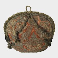 Antique Velvet & Gold Metallic Embroidered and Tasseled Tea Cozy