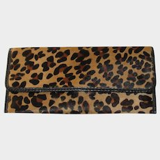 1980's Carlos Falchi Calf Fur Clutch Purse with Optional Shoulder Strap-Never Used
