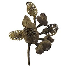 C. 20's French Gold Metallic Flower-3 Available