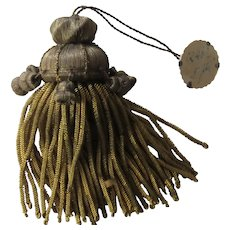 C. 20's French Metallic Gold Tassel with Bell Shaped Bobbles-Original Tag