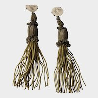 Pair C. 20's French Metallic Gold Tassels with Original Tags