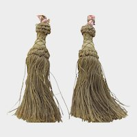 Pair C. 20's French Metallic Gold Tassels
