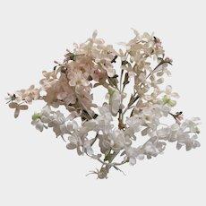 Vintage Millinery Flowers-2 Pink & 3 White