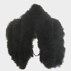 1920's Marabou Feathers Black Capelet Stole
