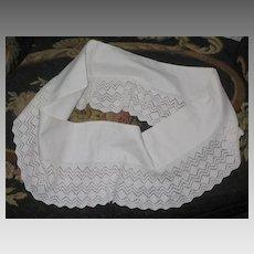 Vintage White Hand Crochet Pillowcase Trim/Edging-Pair