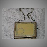 Vintage C. 1911 Celluloid & German Silver Dance Purse w/Texas Ribbon