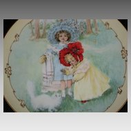 "Maud Humphrey ""Kitty's Bath"" Porcelain Collector Plate-1990-The Hamilton Collection"