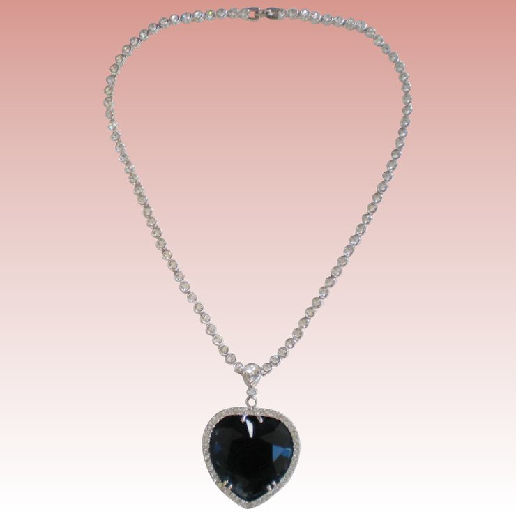 Titanic heart of the ocean heart pendant necklace j peterman titanic heart of the ocean heart pendant necklace j peterman co fox aloadofball Image collections