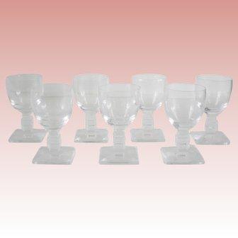 Lalique Argos Cordial Glasses-Set of 7