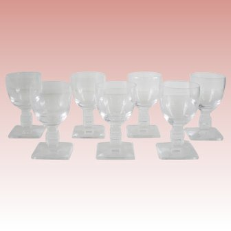 Lalique Argos Cordial Glasses-Set of 7