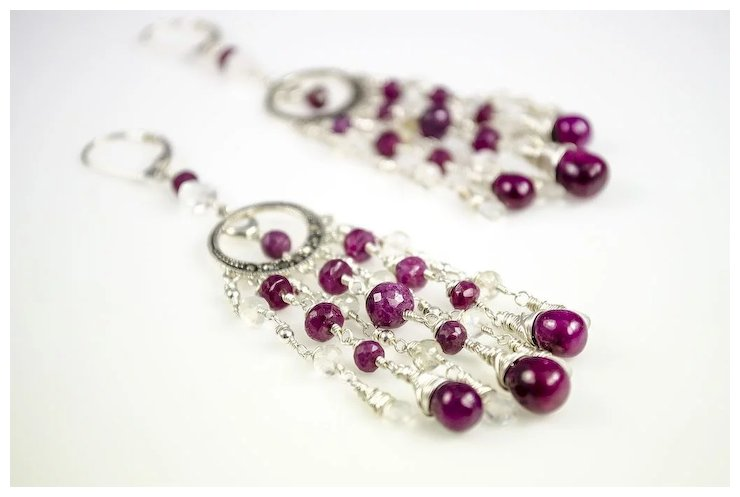 Ruby rainbow moonstone marcasite sterling silver chandelier ruby rainbow moonstone marcasite sterling silver chandelier earrings aloadofball Image collections